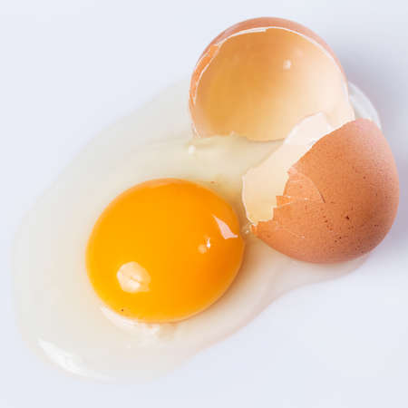 Close up of cracked egg Stock Photo