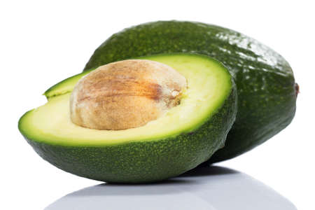 Close up image of fresh and green avocado  Stock Photo