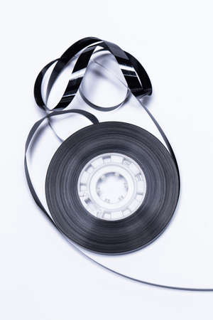 Close up of magnetic audio tape reel  photo