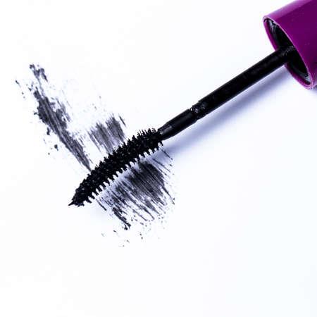 Closeup of mascara brush over white background Stock Photo - 24452861