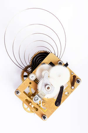 Gear mechanism on white background photo