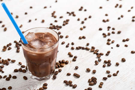 Cold and sweet coffee cocktail photo