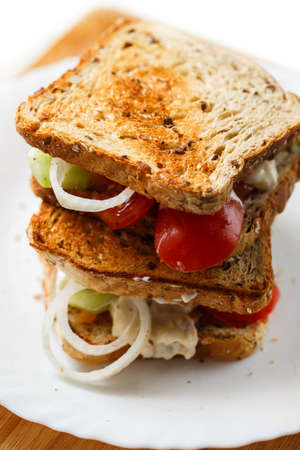 Delicious home made sandwiches