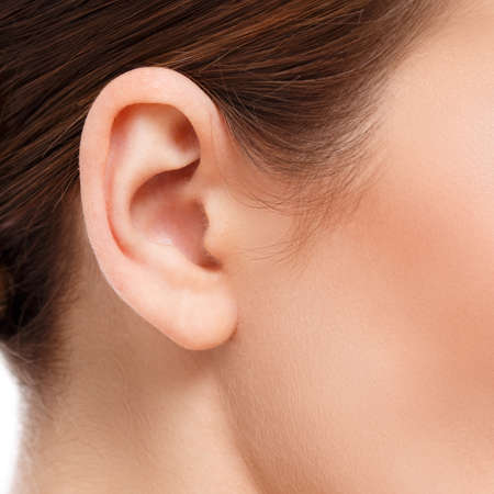 ears: closeup of woman ear