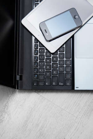 Picture of smartphone, tablet and laptop