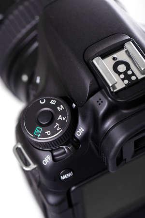 Close up view of DSLR camera