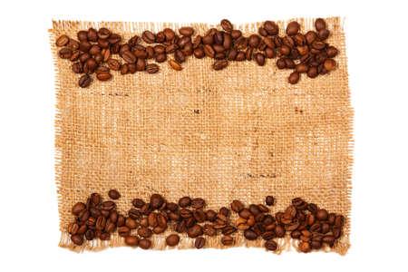 Coffee grains and sackcloth