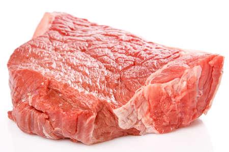 Raw fresh meat on white background Stock Photo
