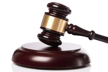 martillo juez: Juez martillo en fondo blanco