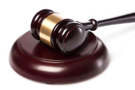 juge marteau: Juge marteau sur fond blanc