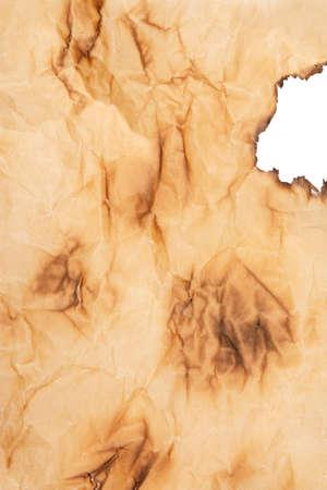 burnt paper: Old burnt paper background