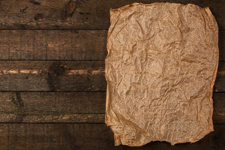 crumpled sheet: Old and crumpled sheet of paper