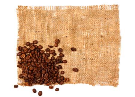 sackcloth: Coffee grains and sackcloth
