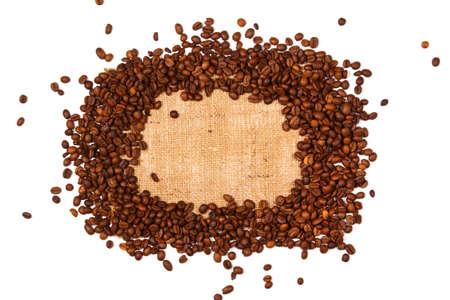 granos de cafe: Granos de caf� y saco