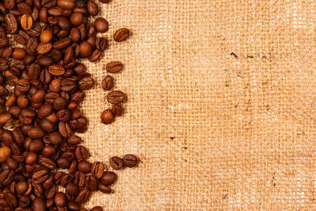 coffee grains: Granos de caf� y saco