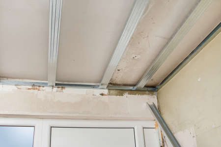 roof framing: Metal structure for a drywall ceiling
