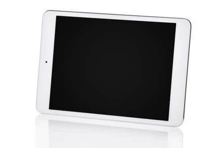 blank tablet: White tablet pc isolated
