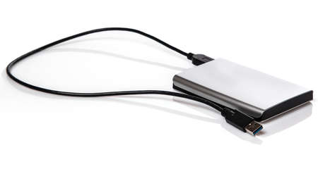 External HDD on white background photo
