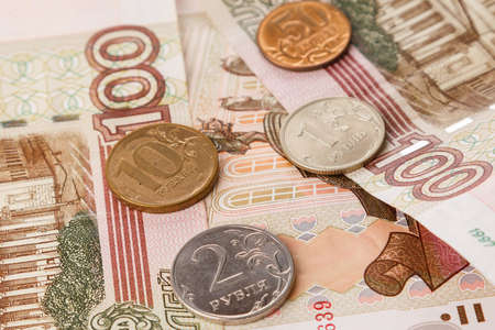 rubles: Close up of russian rubles Stock Photo