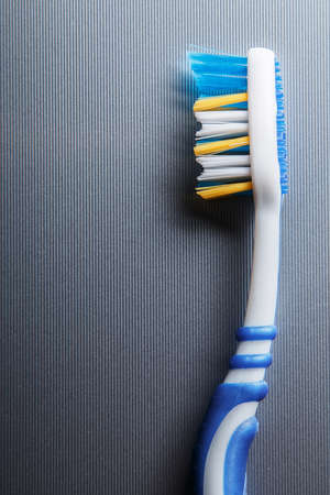 bristle: Close up of colorful toothbrush Stock Photo