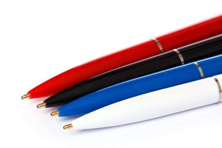 ballpoint: Ballpoint pens on white background