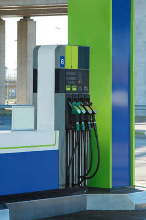 fueling pump: Modern gas station
