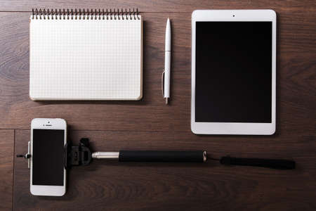 extensible: Different objects for blogging on a workplace Foto de archivo