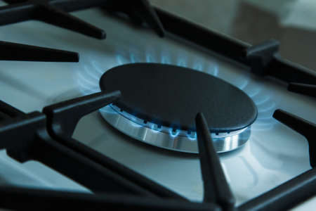 utility payments: Gas stove. Utility bills concept