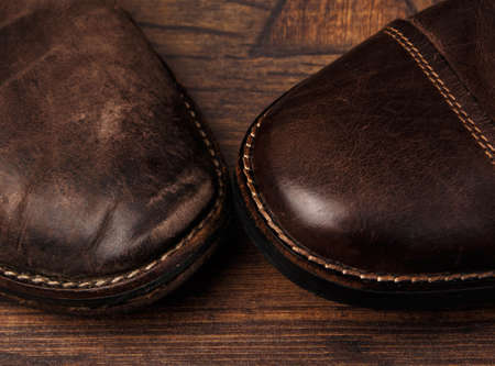 old shoes: New and old shoes comparison