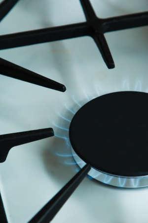 gas stove: Gas stove. Utility bills concept