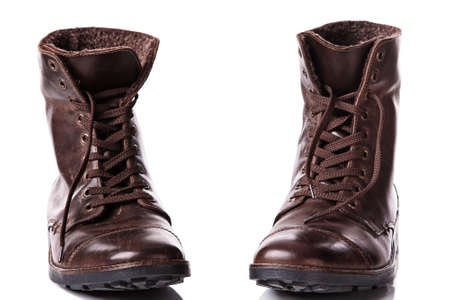 leather boots: Sylish leather boots Stock Photo