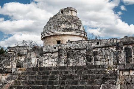 itza: Observatory El Caracol at Chichen Itza. Yucatan, Mexico. Stock Photo