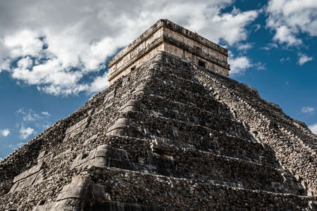 Yucatan, Mexico -  Kukulcan Temple at Chichen Itza