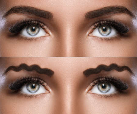 New trend - squiggle or wavy eyebrows