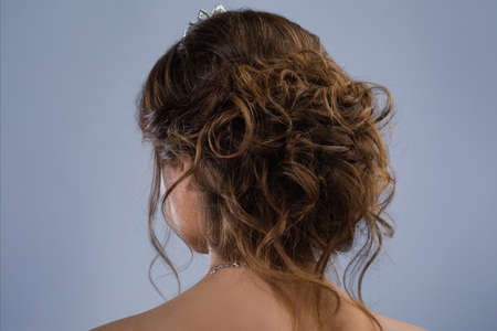 Hairstyle for a beautiful bride