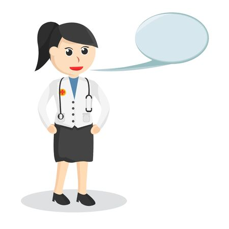 Female doctor With Callout job illustration Ilustração