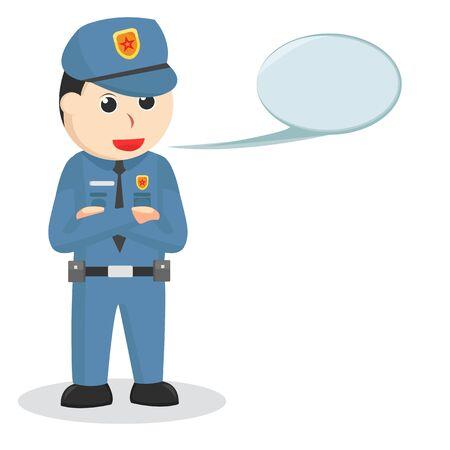 Police With Callout job illustration Illusztráció