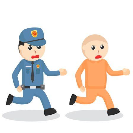 Police Catches The Prisoner illustration