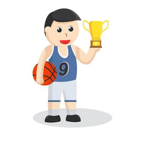 joueur de basket-ball a obtenu une illustration de trophée