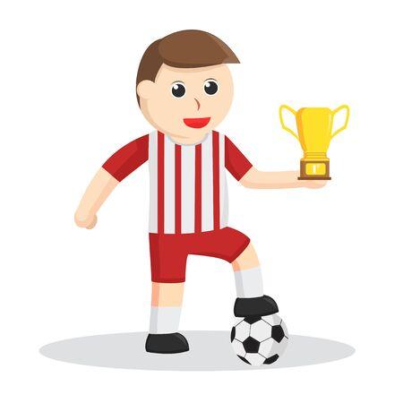 Football Player Got A Trophy