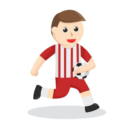 Football Player holding ball illustration Illustration
