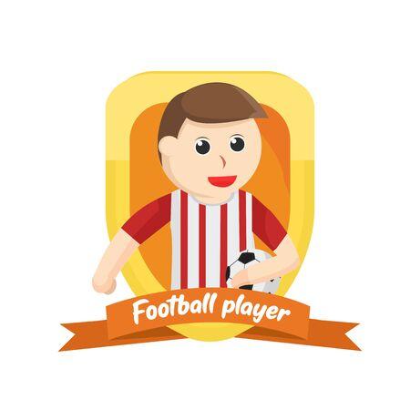 football player in emblem illustration Illustration