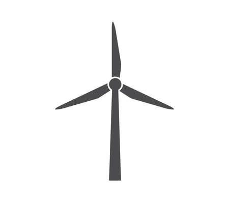 Windmill icon. Simple metal windmill illustration.