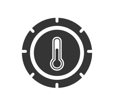 Climate control icon.  Air control tool. Air control button icon.