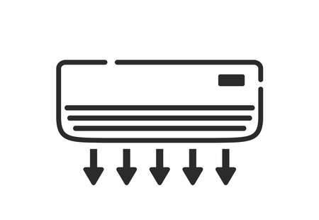 Air conditioner icon. Vector air cooler vector illustration.
