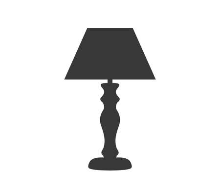 Lamp icon, Table lamp vector.  Table lamp vector design. Illustration