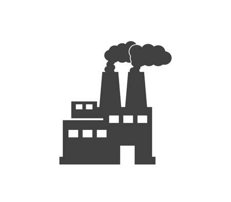 Factory icon. Factory building vector design.  Capitalism icon.