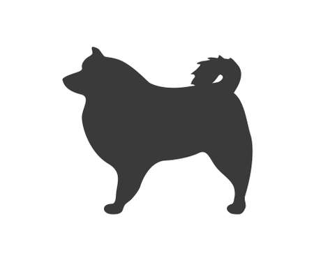 Dog icon. Pomeranian dog vector illustration.