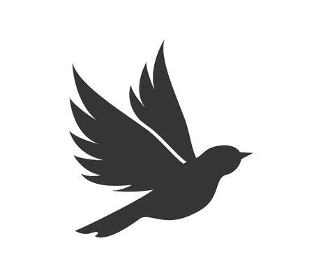 Bird icon. Bir vector logo.