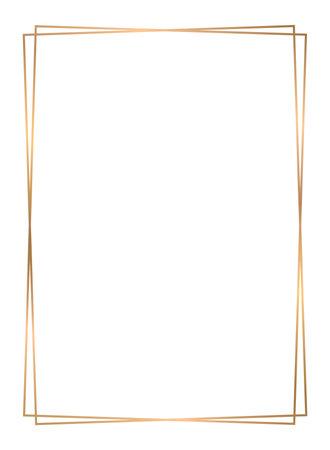 Gold frame vector. Gold frame on white background.